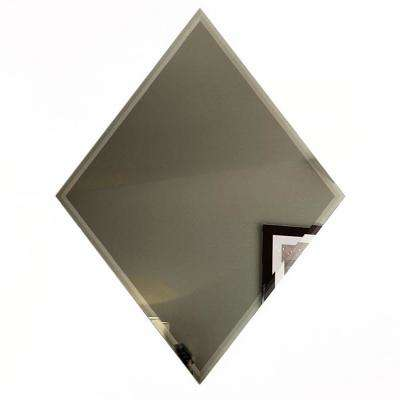"Reflections Gold Beveled Diamond 6"" x 8"" Glass Mirror Peel & Wall Tile (6-Pc/Pack)"