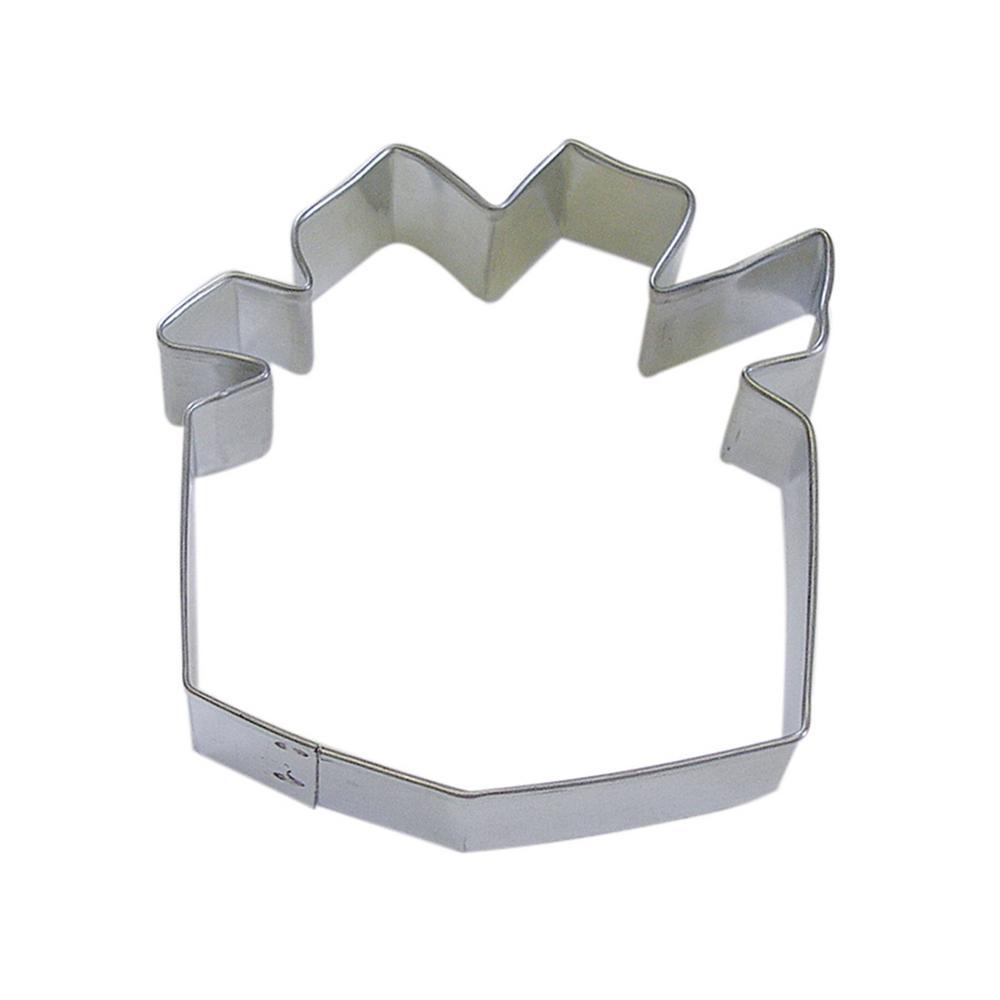 591f8d5b5154 CybrTrayd 12-Piece Present 3.25 in. Tinplated Steel Cookie Cutter   Recipe