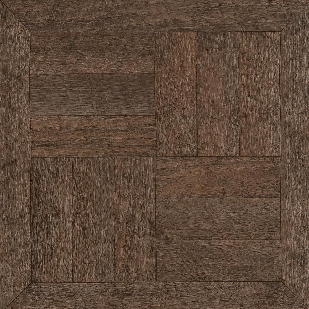 Armstrong Heirloom Brown 12 In X L And Stick Vinyl Tile