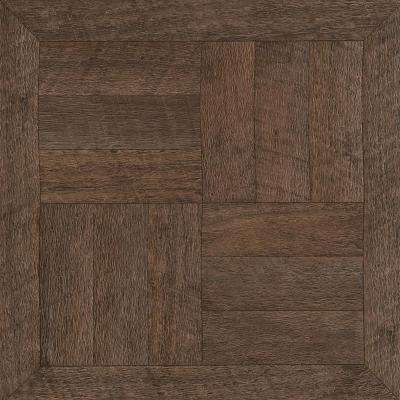 Heirloom Brown 12 in. x 12 in. Peel and Stick Vinyl Tile (30 sq. ft. / case)