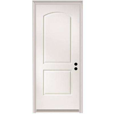 32 in. x 80 in. Caiman Left-Hand Primed Composite 20 Min. Fire-Rated House-to-Garage Single Prehung Interior Door