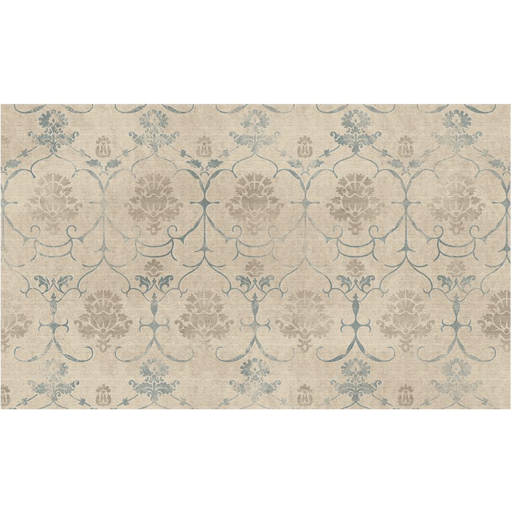 Ruggable washable leyla creme vintage 3 ft x 5 ft area rug