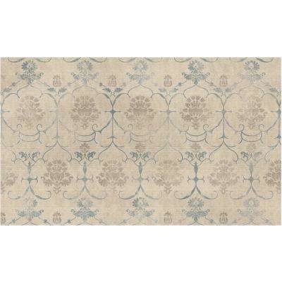 Washable Leyla Creme Vintage 3 Ft X 5 Area Rug