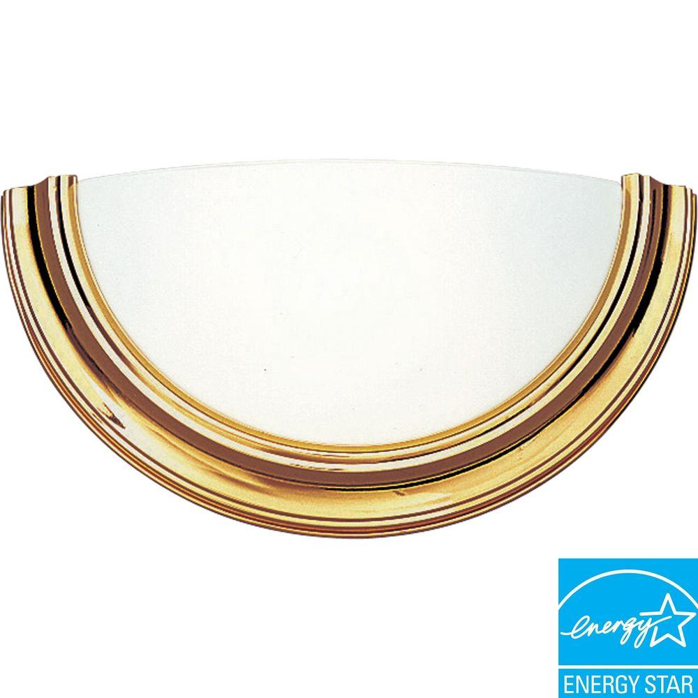 Progress Lighting Eclipse Collection Polished Brass 1-light Wall Sconce-DISCONTINUED