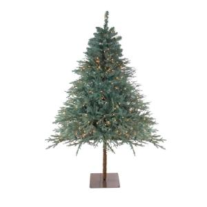 6.5 ft. Pre-Lit Fairbanks Alpine Artificial Christmas Tree with Clear Lights
