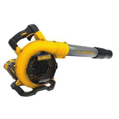 129 MPH 423 CFM FLEXVOLT 60-Volt MAX Lithium-Ion Cordless Handheld Leaf Blower with 3Ah Battery and Charger Included