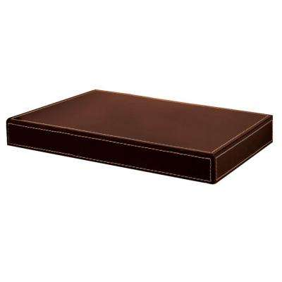 Azure 10 in. Rich Brown Leather Shelf Kit (Price Varies by Length)