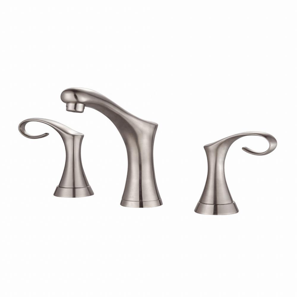 Cirrus 8 in. Widespread 2-Handle Bathroom Faucet in Brushed Nickel