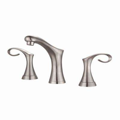 Cirrus 8 in. Widespread 2-Handle Bathroom Faucet in Brushed Nickel