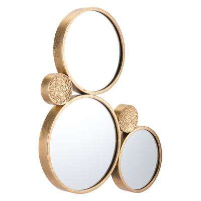 Tri Circular Gold Decorative Mirror