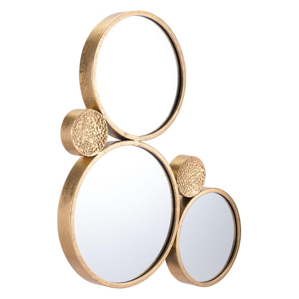Tri Circular Gold Decorative Mirror