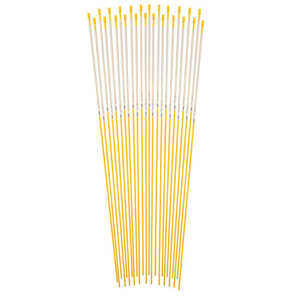 48 in. Yellow Reflective Driveway Marker (24-Pack)