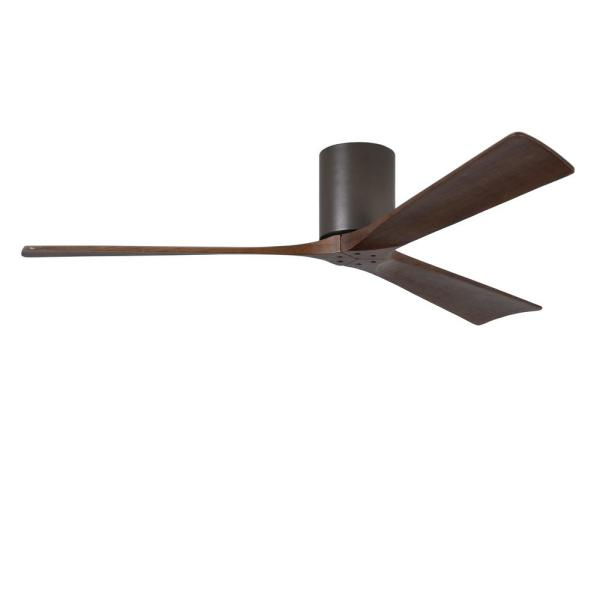 Irene 60 in. Indoor/Outdoor Textured Bronze Ceiling Fan with Remote Control and Wall Control