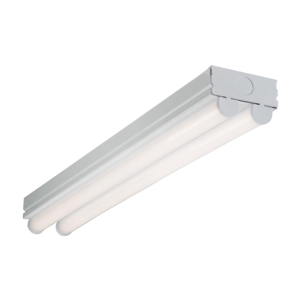 Metalux 2 ft. 2-Light Linear White Integrated LED Ceiling Strip Light with 2100 Lumens, 4000K