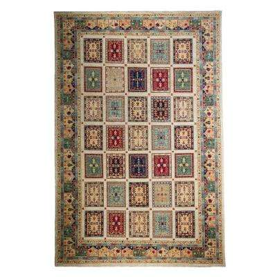 Khyber Ivory 9 ft. x 12 ft. Indoor Area Rug