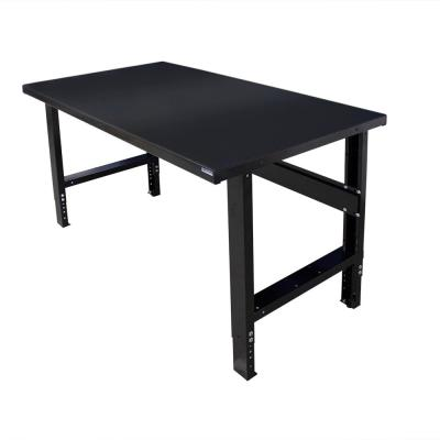 34 in. x 60 in. Heavy-Duty Adjustable Height Workbench with Black Painted Top