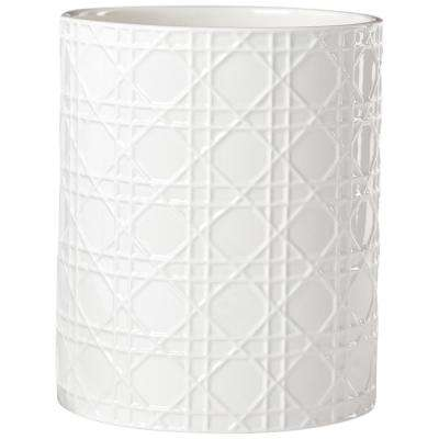 Pisa Waste Basket in White