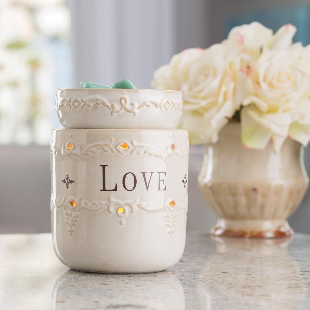 8.8 in. Live, Laugh, Love Illumination Fragrance Warmer, ...