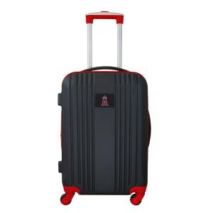 MLB Los Angeles Angels 21 in. Red Hardcase 2-Tone Luggage Carry-On Spinner Suitcase