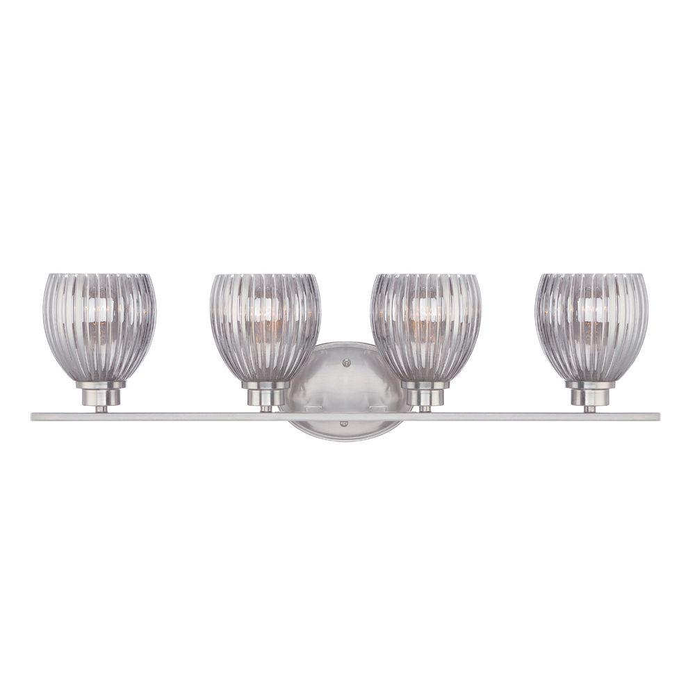 Designers Fountain Sonata 4-Light Satin Platinum Bath Bar Light