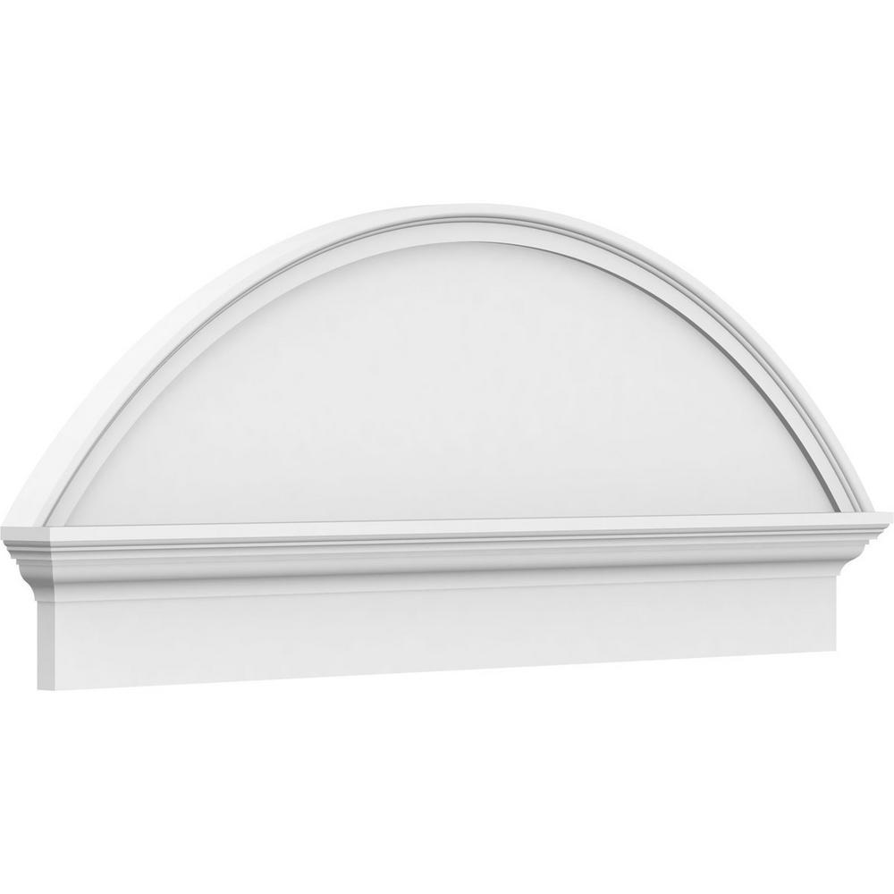 2-3/4 in. x 82 in. x 27-3/8 in. Segment Arch Smooth Architectural Grade PVC Combination Pediment Moulding