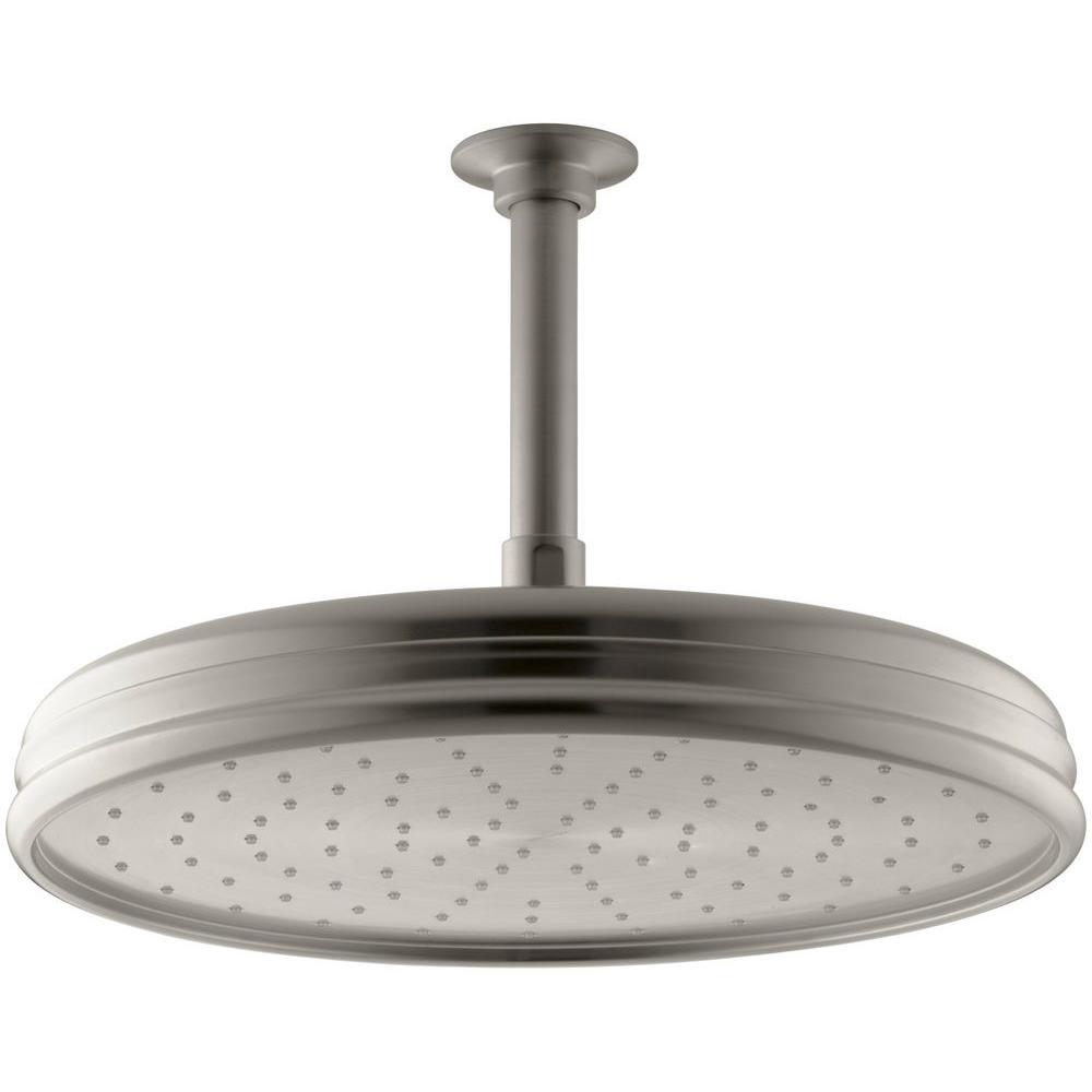 Round Rainhead Showerhead In Vibrant Brushed Nickel