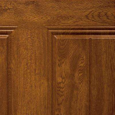 5 in. x 2.5 in. Steel Garage Door Color Sample in Ultra-Grain Medium Oak Finish