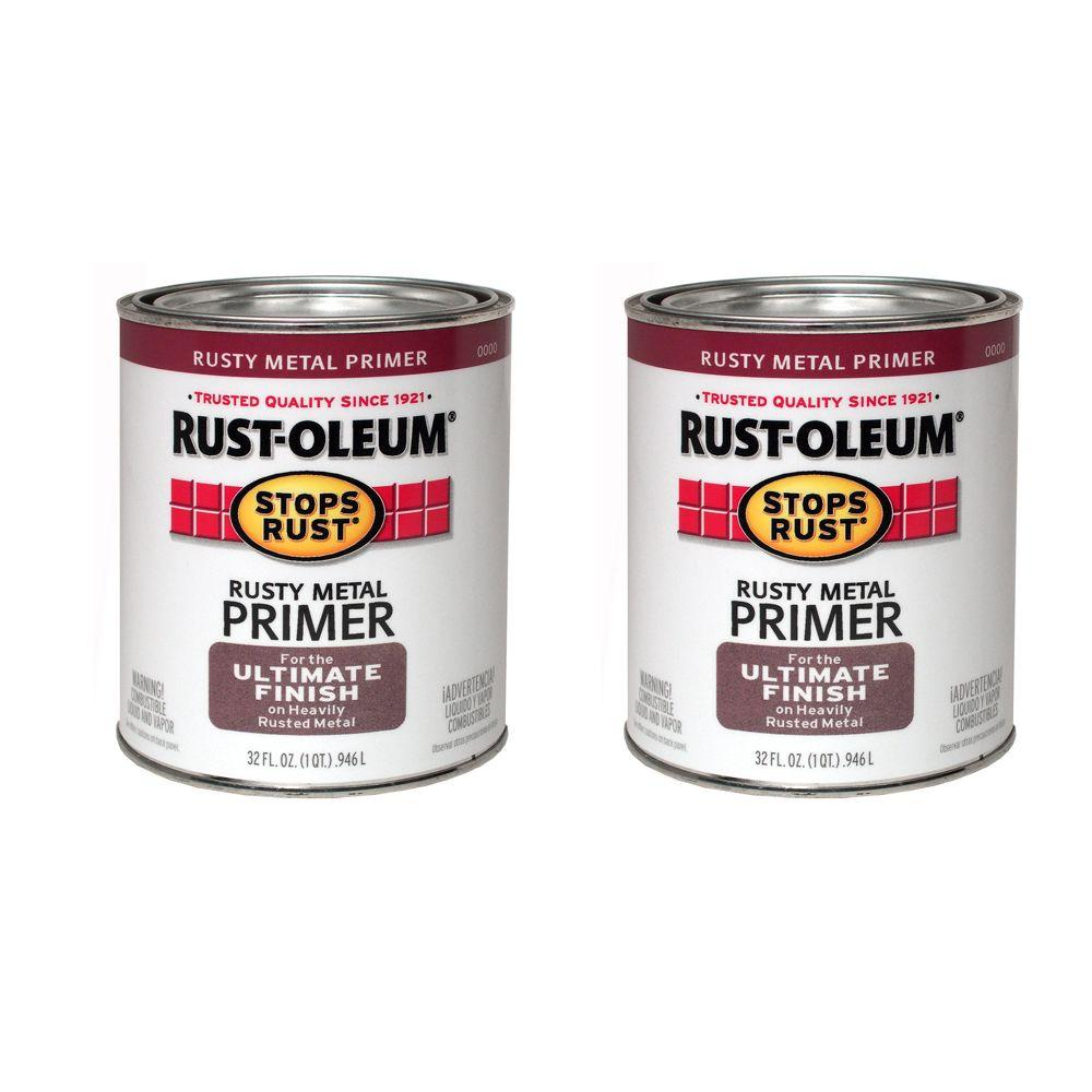 Rust-Oleum Stops Rust 32 oz. Gloss Oil-Based Rusty Metal Primer (2-Pack)DISCONTINUED