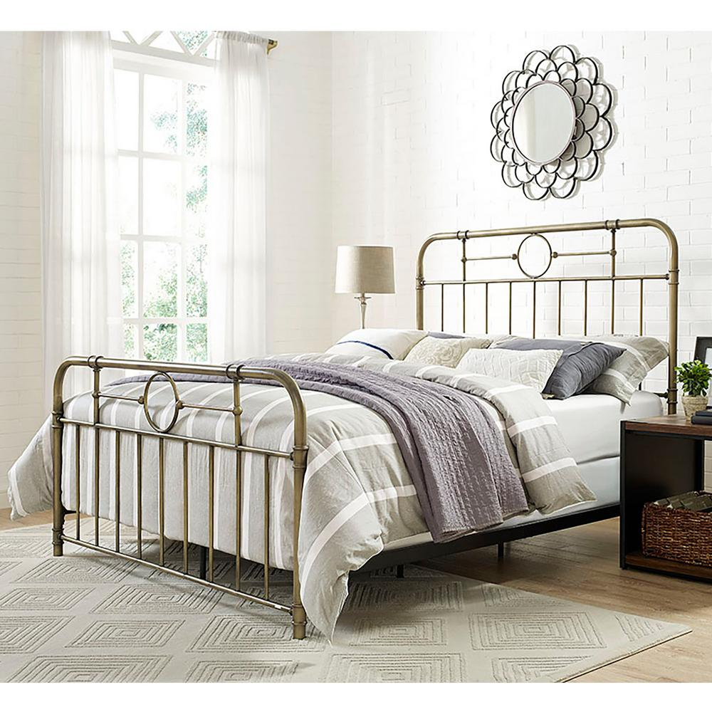 Bronze Queen Bed Frame. Bronze   Beds   Headboards   Bedroom Furniture   The Home Depot