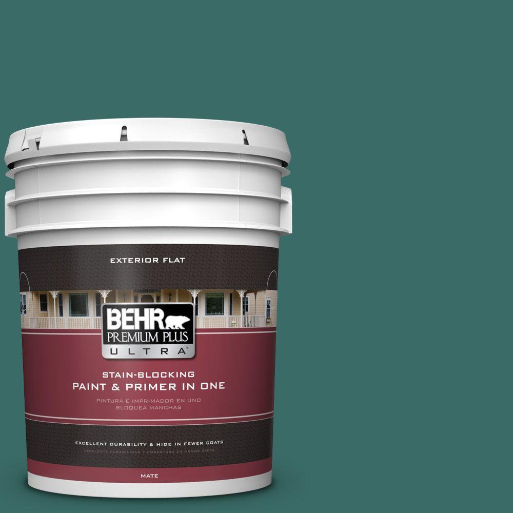 BEHR Premium Plus Ultra 5-gal. #M450-7 Beta Fish Flat Exterior Paint