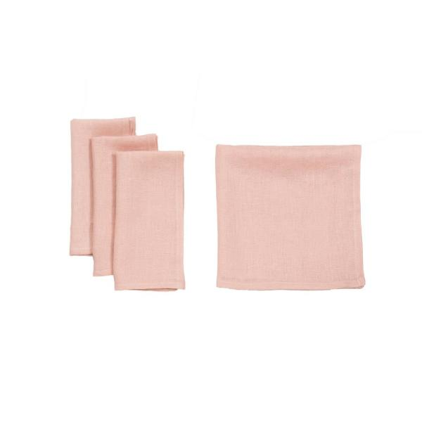 0.1 in. H x 20 in. W x 20 in. D Classic Linen Napkins in Pink (Set of 4)