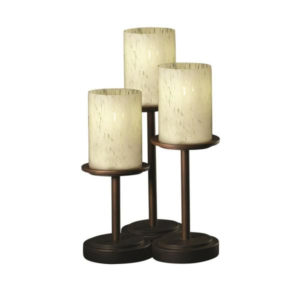 3 Light 16 In Dark Bronze Table Lamp