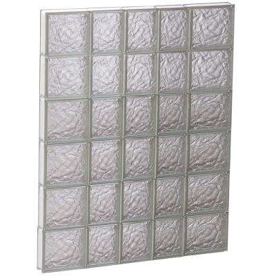 32.75 in. x 46.5 in. x 3.125 in. Ice Pattern Non-Vented Glass Block Window