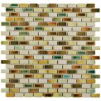 Rustica Subway Springfield 11-3/4 in. x 11-3/4 in. x 8 mm Porcelain Mosaic Tile