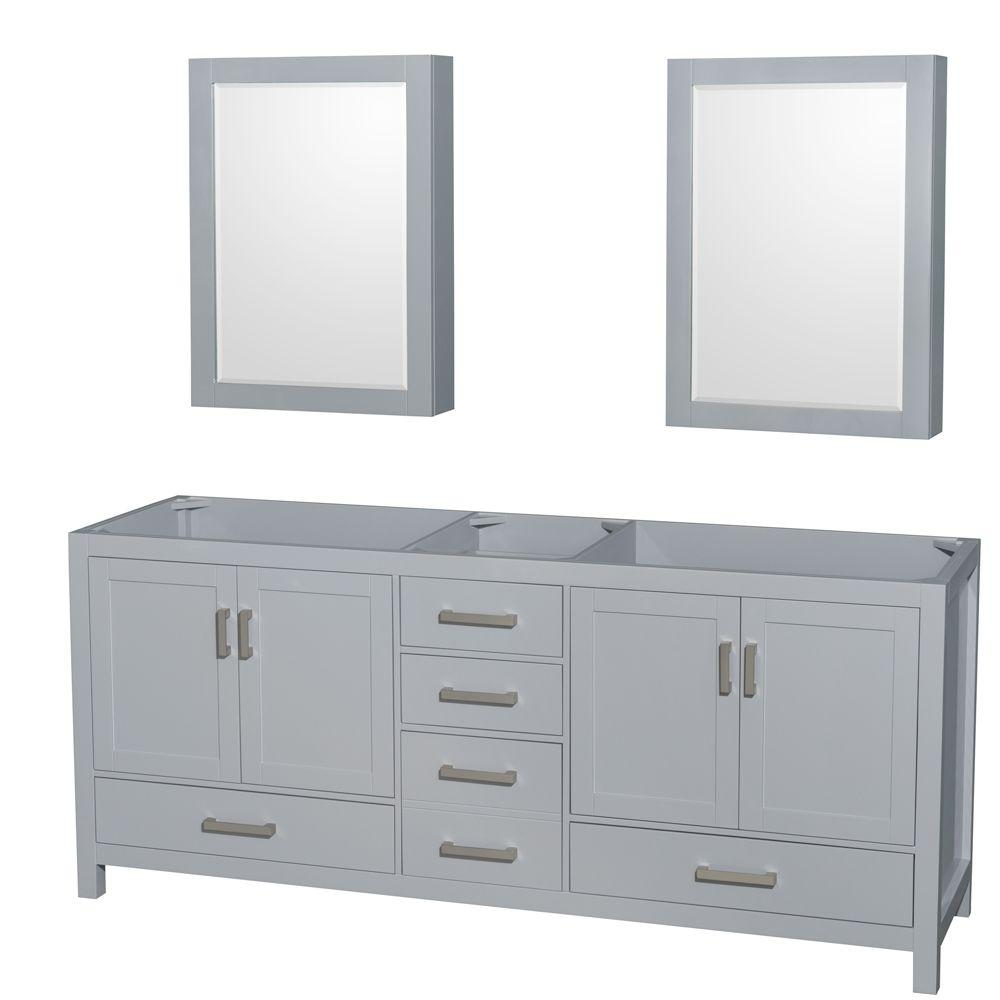 Wyndham Collection Sheffield 80 In Vanity Cabinet With