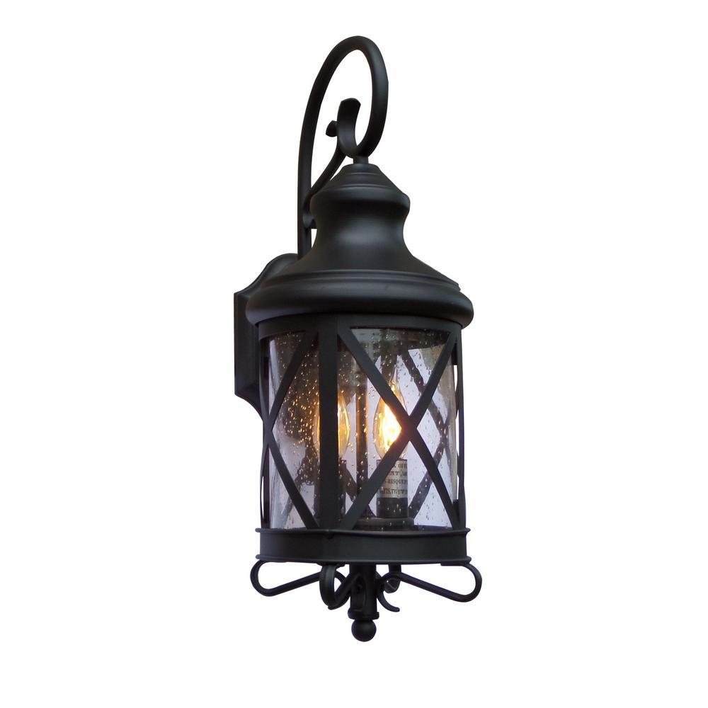 Y Decor Taysom 2 Light Black Outdoor Wall Mount Barn Light Sconce