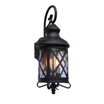 Taysom 2-Light Black Outdoor Wall Mount Lantern