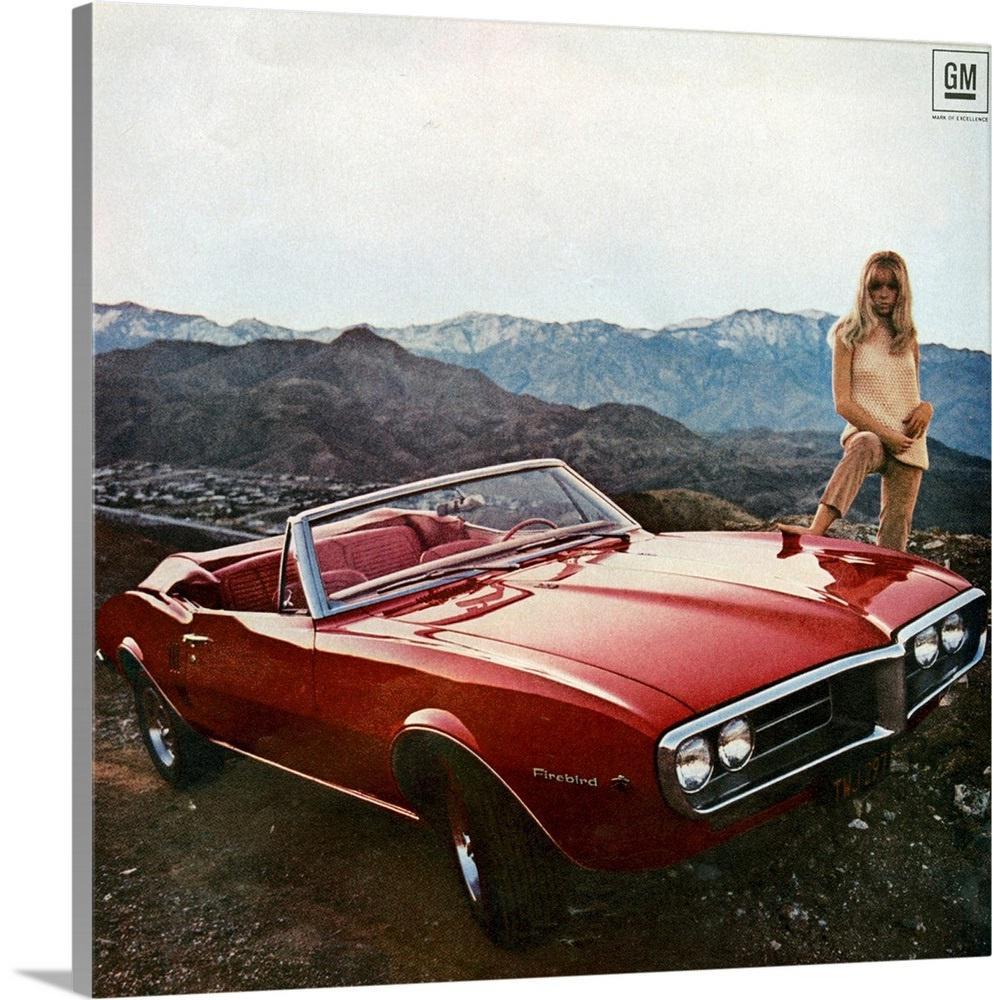 """1960's USA Pontiac Magazine Advert (detail)"" by Great BIG Canvas Canvas Wall Art"