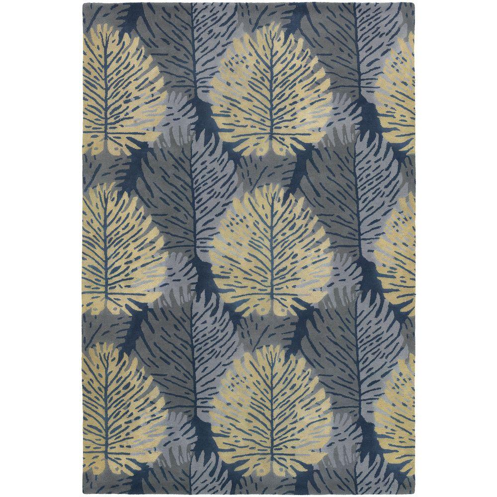 Alfred Shaheen Grey/Blue/Cream 7 ft. 9 in. x 10 ft. 6