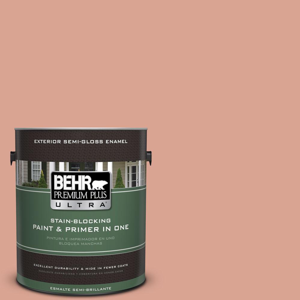 BEHR Premium Plus Ultra Home Decorators Collection 1-gal. #HDC-CT-13 Apricotta Semi-Gloss Enamel Exterior Paint