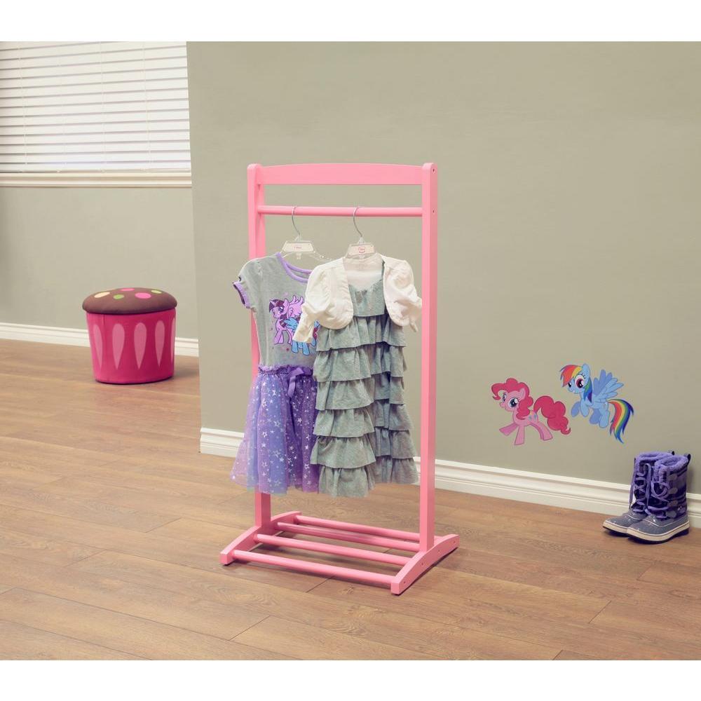 Diy Child Clothes Rack: Freestanding Kids Clothes Pole Hanger Rack Organizer In