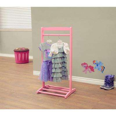 1-Hook Kid's Cloths Hanger in Pink
