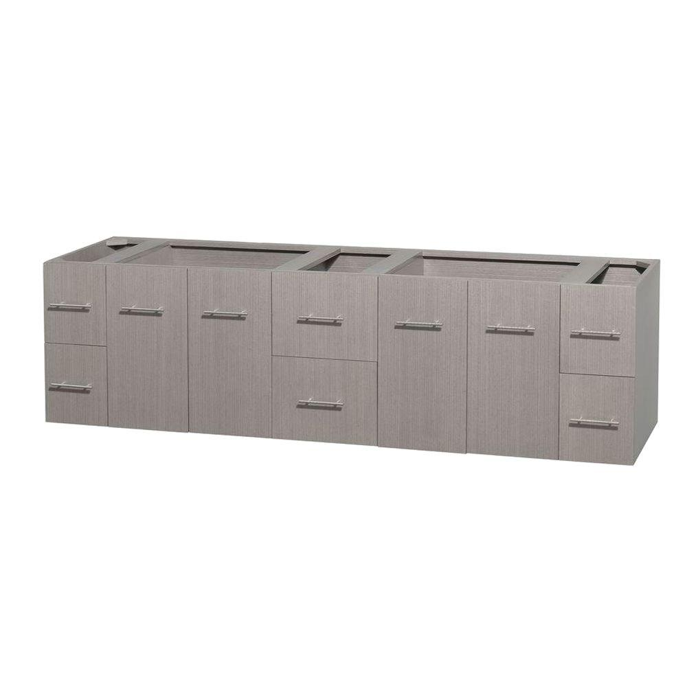 Wyndham Collection Centra 79 in. Double Vanity Cabinet Only in Gray Oak  sc 1 st  Home Depot & Wyndham Collection Centra 79 in. Double Vanity Cabinet Only in Gray ...