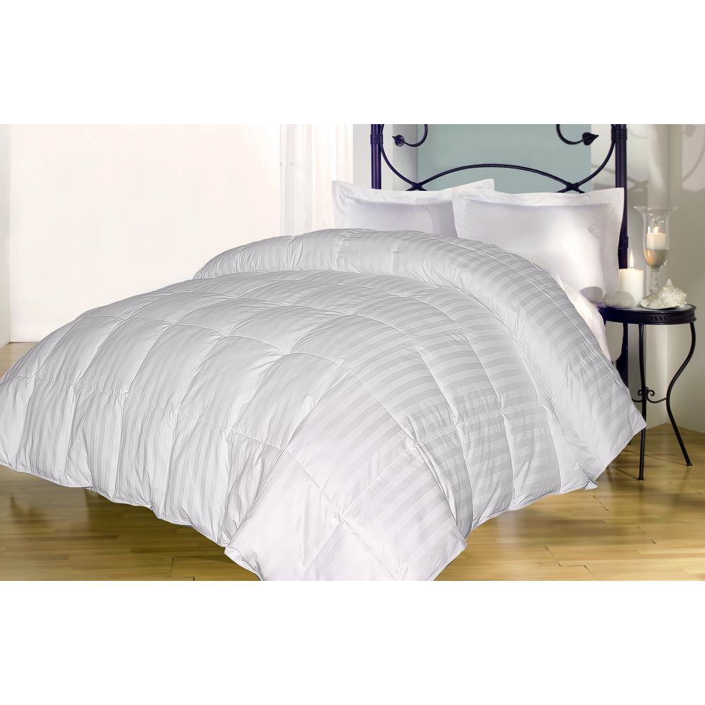 Down Alternative 350 Thread CountCotton Damask Full/Queen Comforter