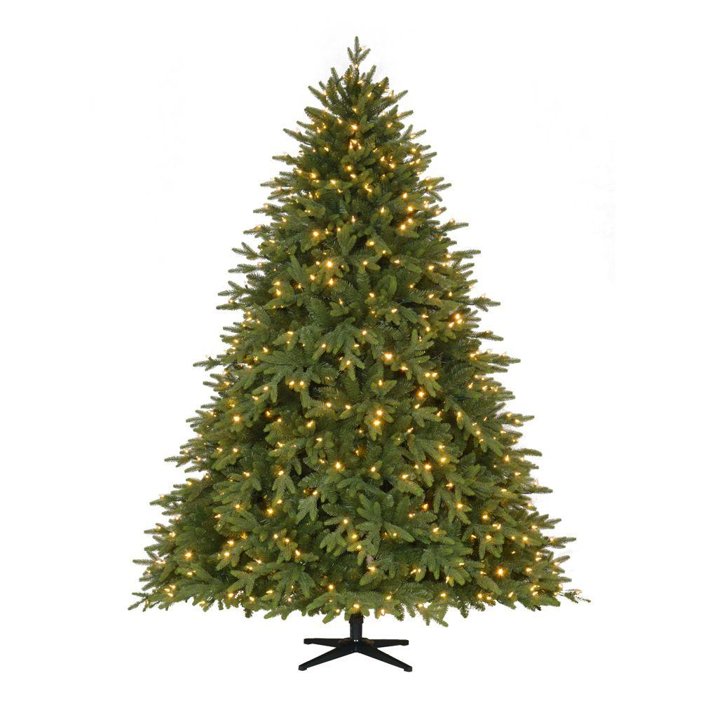 Christmas Tree Setup.Home Accents Holiday 7 5 Ft Pre Lit Led Monterey Fir Artificial Christmas Tree With 650 Color Changing Lights