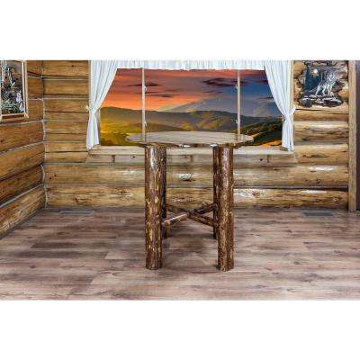 Glacier Country Collection Stained and Lacquered Pub/Bar Table