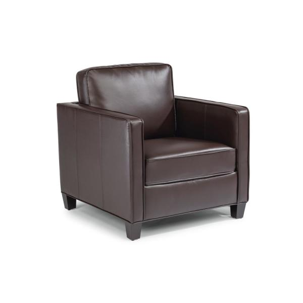 Home Styles Bradley Brown Faux Leather Club Chair and Ottoman 5208-100