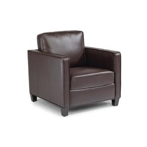 Fabulous Homestyles Bradley Brown Faux Leather Club Chair And Ottoman Alphanode Cool Chair Designs And Ideas Alphanodeonline