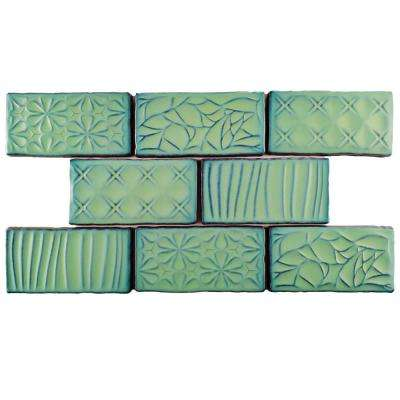 Antic Sensations Lava Verde 3 in. x 6 in. Ceramic Wall Tile (1 sq. ft. / pack)