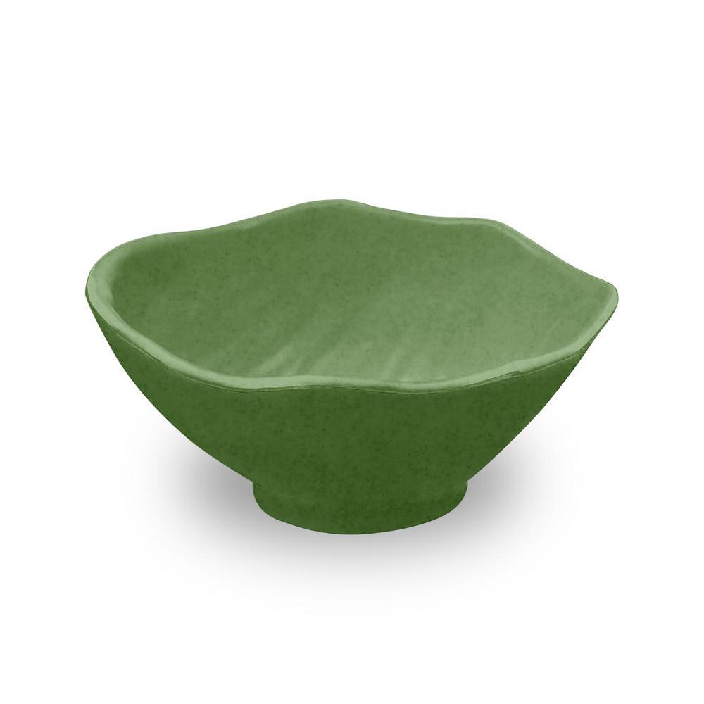 Amazon Leaf 4.3 in. Bamboo Leaf Dip Bowl (Set of 6)